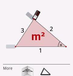 Pomiar powierzchni trójkąta