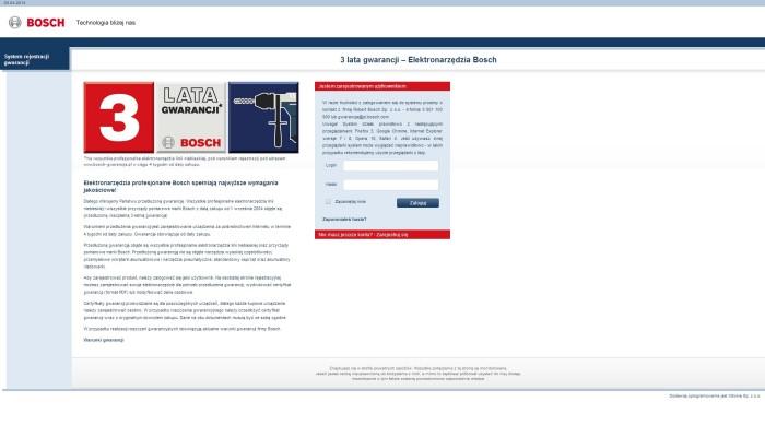 Zrzut ekranu rejestracji BOSCH1